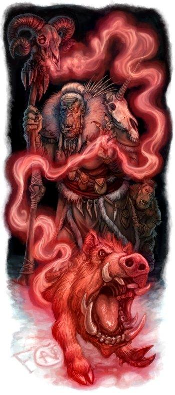 Orc Shaman for Art Order, Digital