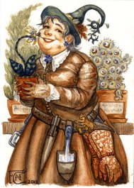 Professor Sprout, watercolor
