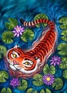 Adventure Card Back for Tiger Stripes ©Game Salute, Digital