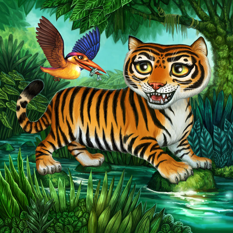 Felicia cano for Tiger striped fish