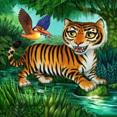 Kingfisher Board for Tiger Stripes ©Game Salute, Digital