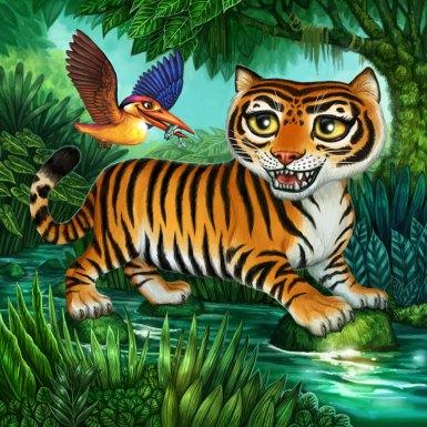 Kingfisher Board for Tiger Stripes ©Game Salute, Digital