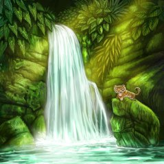Waterfall for Tiger Stripes ©Game Salute, Digital