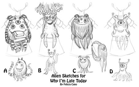 why_I'm_late_today-alien_sketches-Felicia_Cano