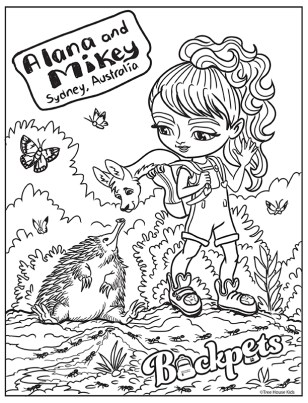 Coloring Book Page Walkabout Digital ©Treehouse Kids
