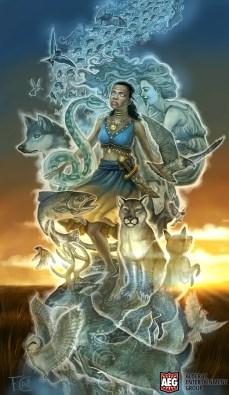 Dione- Spirit Whisperer for Mystic Vale ©AEG, Digital