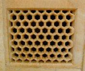 Perfect cut honey comb marble window!