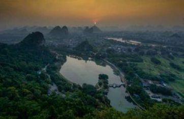Atardecer sobre Guilin