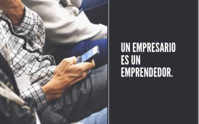 La razón por la cual un empresario es un emprendedor.