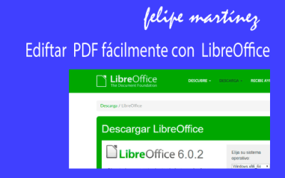Editar PDF con LIBREOFFICE