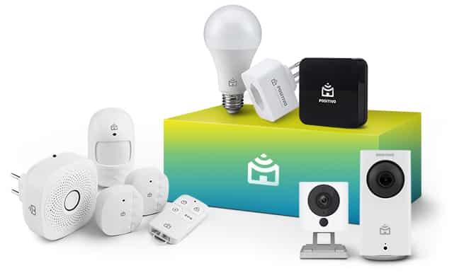 Imagem dos produtos da positivo casa inteligente.
