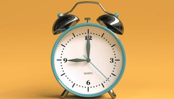 Imagem de um relógio representando o horário de verão