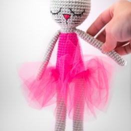 kocia baletnica maskotka handmade