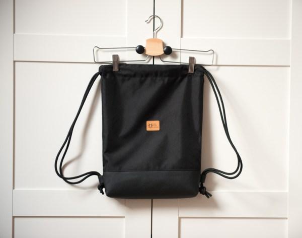 worek plecak wodoodporny czarny