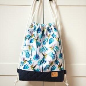 worek plecak w rajskie ptaki