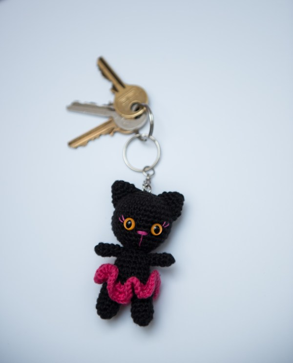 brelok do kluczy kot