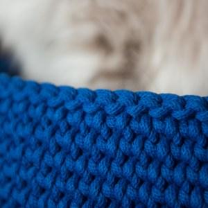 kocie legowisko chabrowe ze sznurka