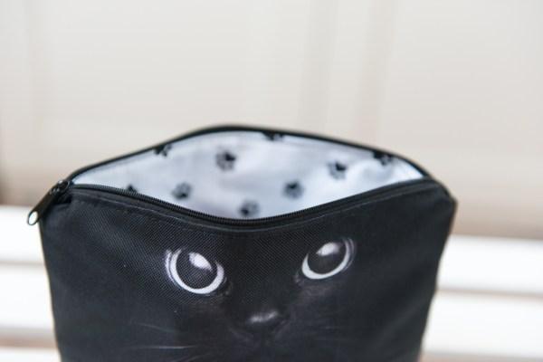 Kosmetyczka wodoodporna czarne koty