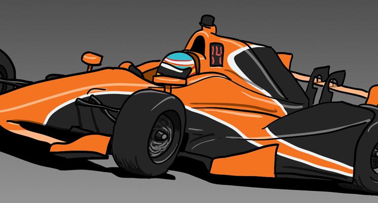 Design: Alonso's McLaren Andretti Honda Indycar