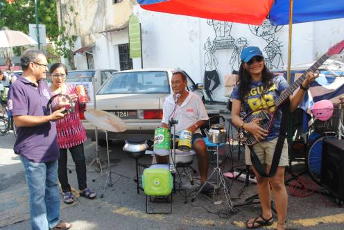 Local band (instruments from recycled materials)