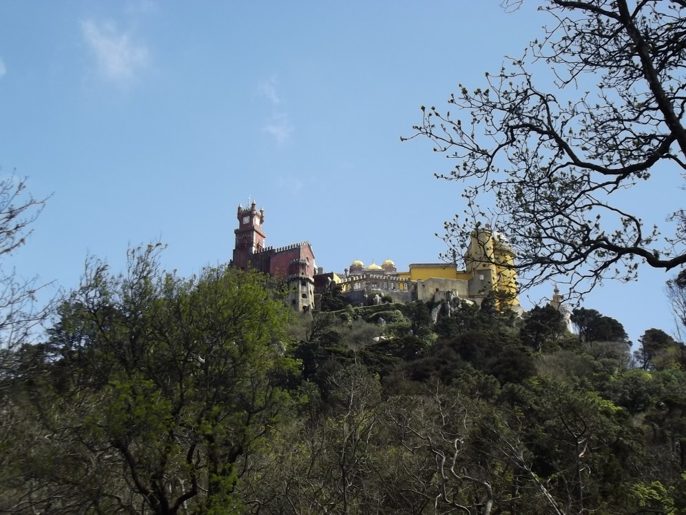 Pena National Palace from afar