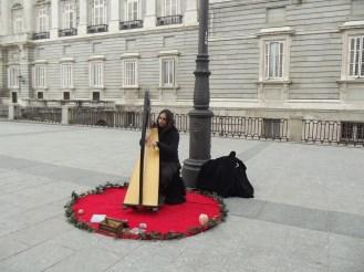 Local musician playing Harp