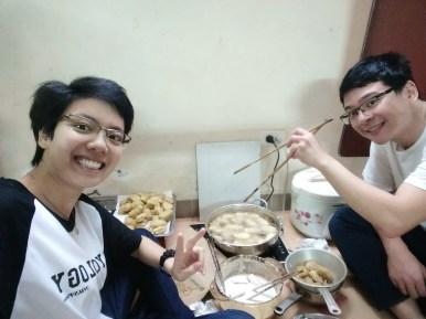 Fried yam cake
