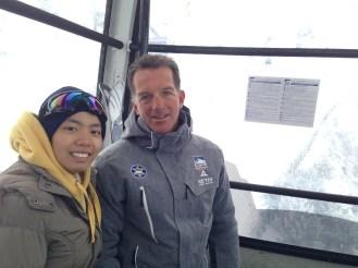 Friendly skier