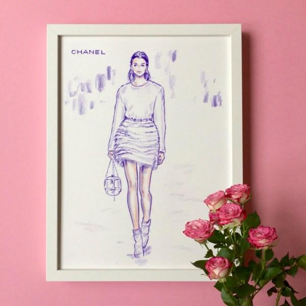 felix scholz illustration fashionillustration chanel