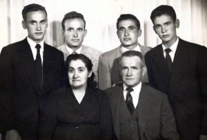 La familia Villafranca en el años 1954.