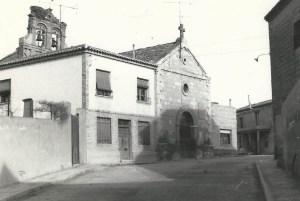 La iglesia vieja de Ribaforada, reformada, donde los hijos de la familia fueron bautizados.