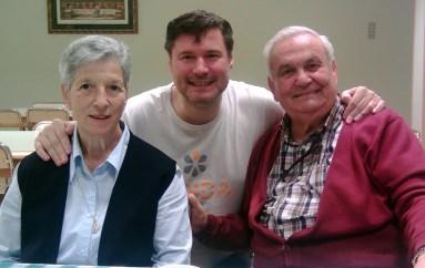 Sor Nieves, Javi Chento y P. Félix, en 2016.