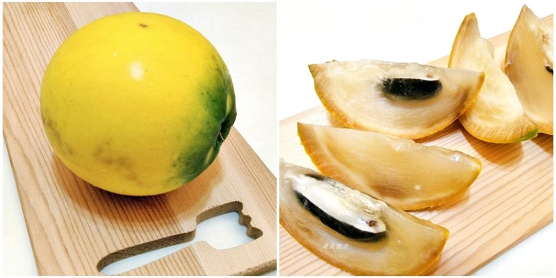 黃金果/黃晶果~市面少見的水果,近似果凍的Q滑口感
