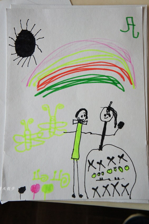 親子 小小孩愛畫畫 鄭寶貝三歲半塗鴉紀錄