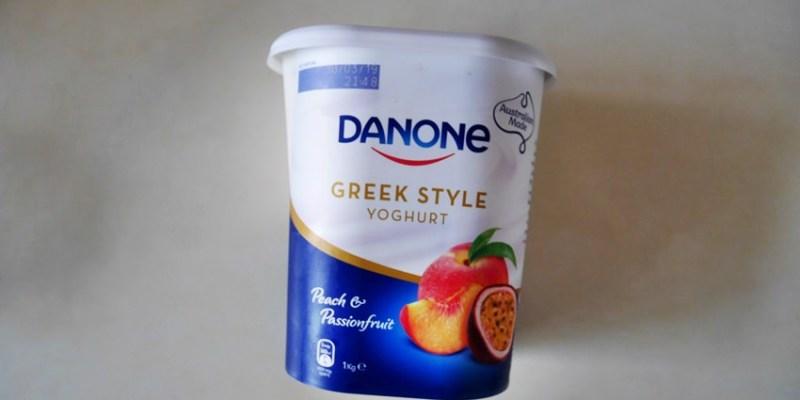 好市多 Costco水蜜桃百香果希臘式優格Danone Yogurt,香甜可口有果粒,Costco必買好物