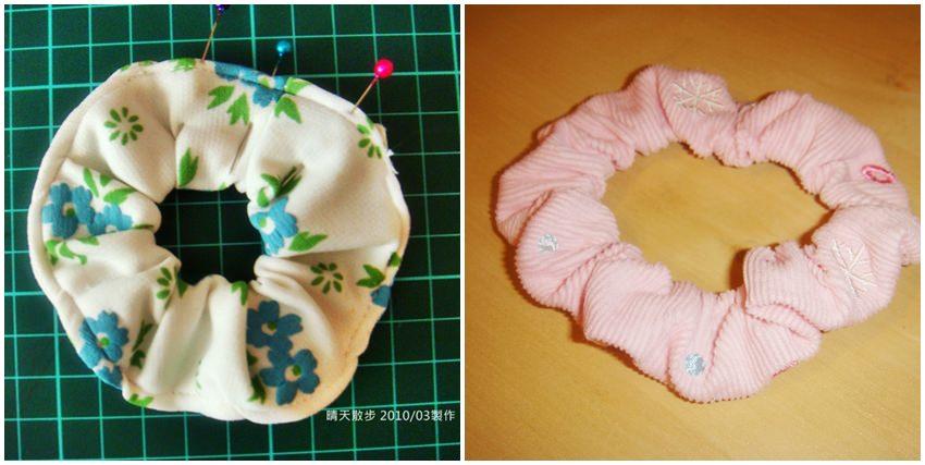 舊衣改造DIY 甜甜圈髮束/大腸圈髮束~舊衣布料+鬆緊帶 簡易手作好實用