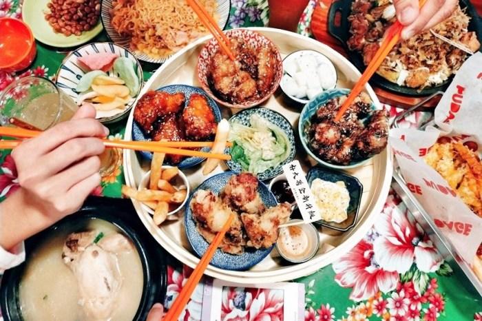逢甲美食|朴大哥的韓式炸雞~復古餐廳吃韓式料理,炸雞套餐蒸籠上菜好吸睛,小菜免費續喔!