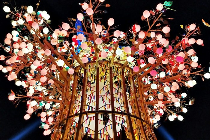 2020台灣燈會在台中~搭火車去后里逛台中燈會,森林園區好精彩,光之樹、聆聽花開永晝心、無人機秀、森林機械巨蟲秀!