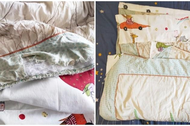 舊衣改造DIY|縫補被子、棉被,每個人都有心愛的小被被