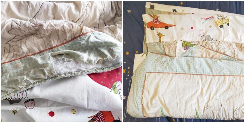 舊衣改造DIY 縫補被子、棉被,每個人都有心愛的小被被