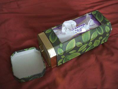 舊物改造|茶葉罐大變身,超簡單面紙盒