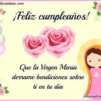 Imágenes de Feliz cumpleaños con la Virgen María