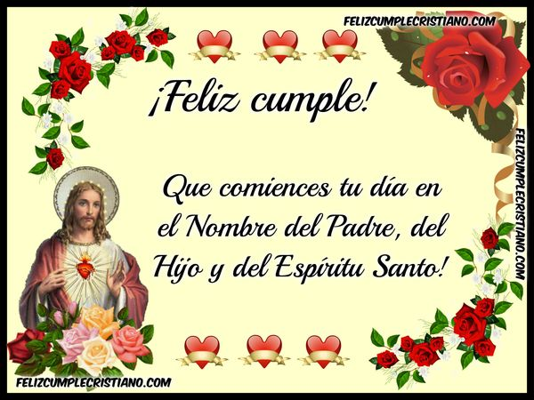imagen feliz cumple jesus frase
