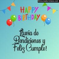 Bendiciones y feliz cumpleaños
