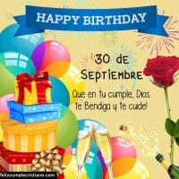 Imágenes cristianas de cumpleaños con los días de Septiembre