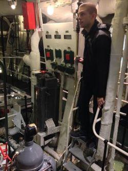 Luke exploring the HMS Belfast