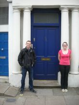 If you've seen Notting Hill, you'll know this door - the famous blue door! The owners had repainted it black, to deter tourists (like us!) taking photos with it - but they eventually admitted defeat! Yay!