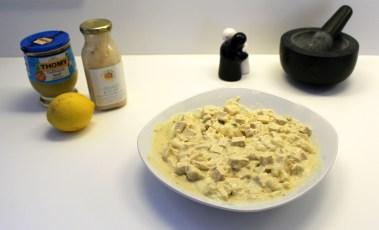 Tofu u Zwiebeln in Urwaldfeuer