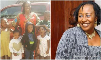 Patience Ozonkwo shares photos with her granchildren