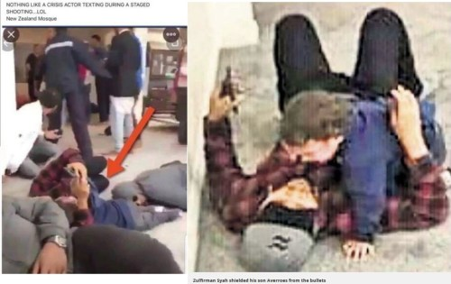 More on NZ False Flag Event NZ-2nd-mosque-shooting-crisis-actor-texting